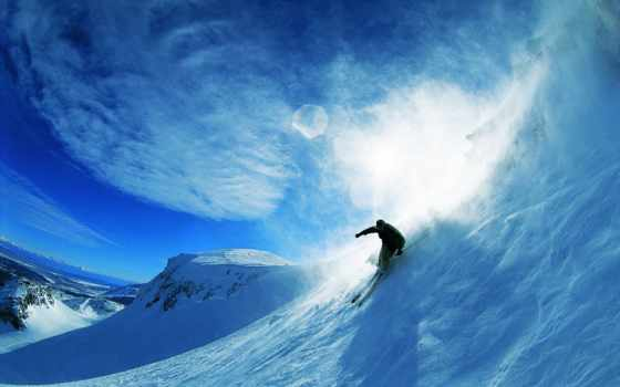 лыжи, горные, лыжах,