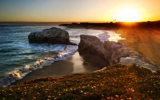 пляж, glass, bragg, форт, california, фото, united, природа, share, states,