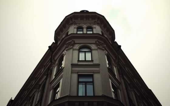 building, angle, house, фото, взгляд, ниже, окно, angular, fonday, птица