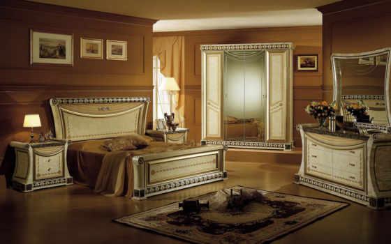 спальни, спальня, интерьер