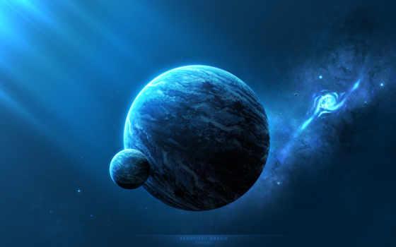 galaxy, planet, cosmos