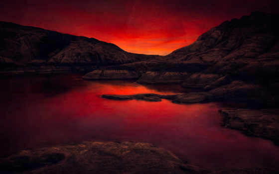закат, widescreen, природа, desktop, stars, landscape, восход,