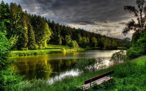 леса, природа, german, река, landscape, reki, лес, берега, чехия, pruhonice, картинка,