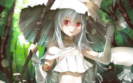 anime, witch, white, июнь, manga,