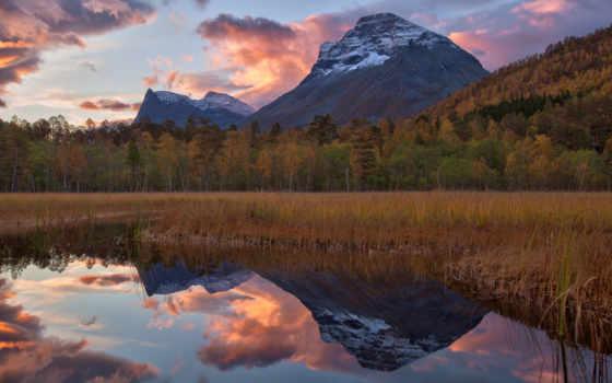 горы, озеро, resimli, landscape, sözler, отражение, гора, лес, ilgili, ile,