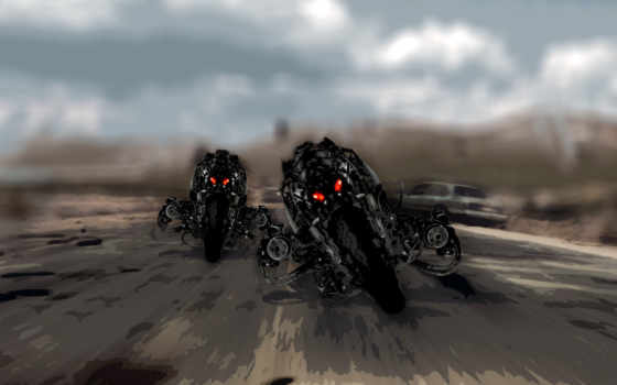 fantasy, мотоциклы, терминатор, уже, загружено, роботы, коллекция, лучшая,