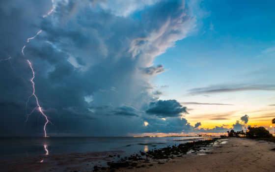 lightning, облако, incredible, красивый, природа