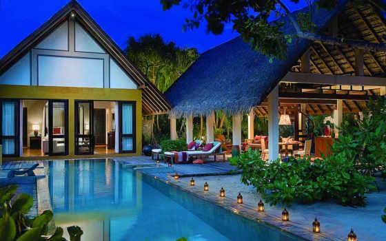 maldives, seasons, четверо, resort, landaa, giraavaru,