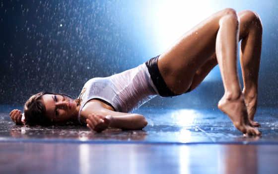 дождь, девушка, water