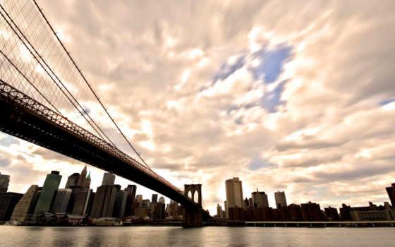 нью, york, мост