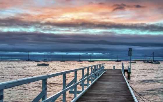 harbor, лодка, деревянная