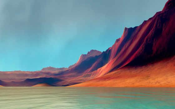 горы, море, flex, страница, природа, картинка, графика,