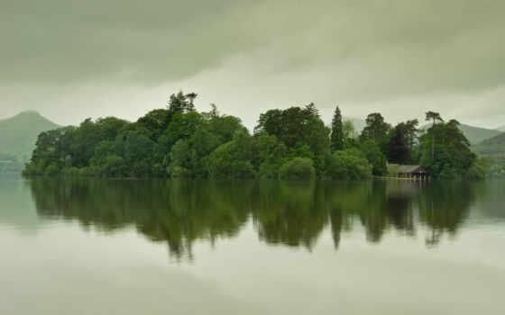 widescreen, озеро, water, природа, горы, iphone, облака,