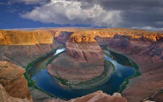 arizona, сша, colorado, каньон, гранд, state, подкова,