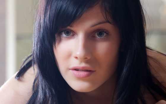 blue, eyes, black, волосы, women, доска, brunettes, images, brunette,