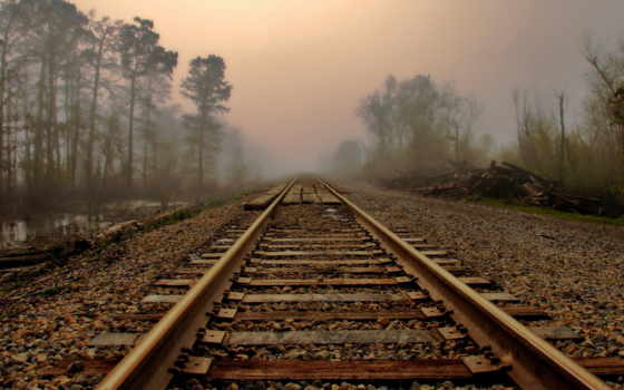 туман, дорога, landscape