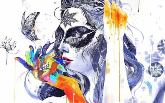 абстракция, цветы, узоры