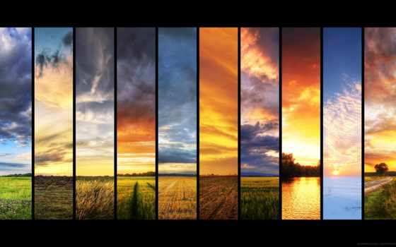 природа, венгрии, картинка, красивая, различными, природы, кусочками, только,