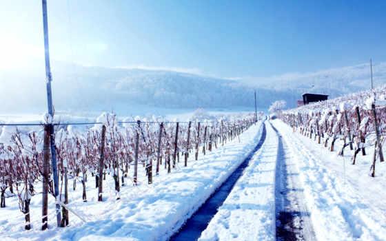 land, winter, resolutions