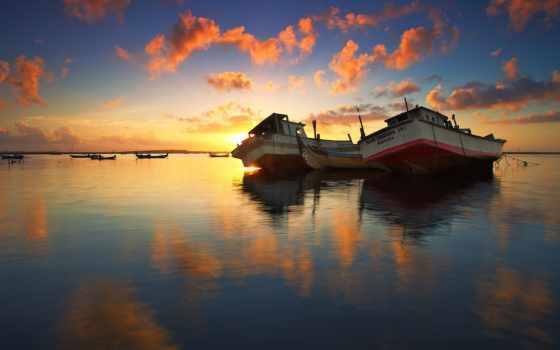 goodfon, ly, лодки, су, небо, iphone, ultra, wpzp, зеркало,