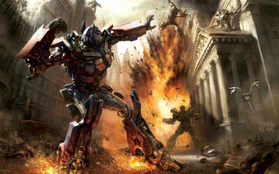 fantasy, prime, optimus, transformers, стиле, war, art,