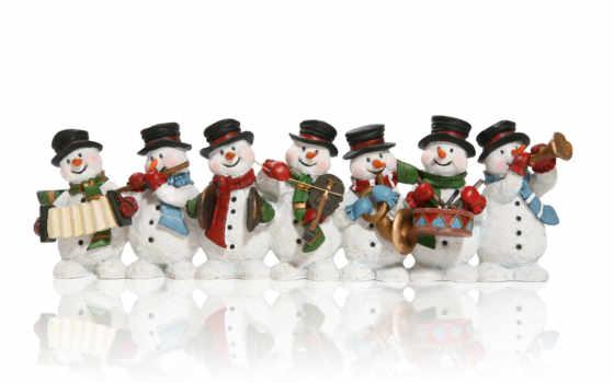 снеговики, new, год