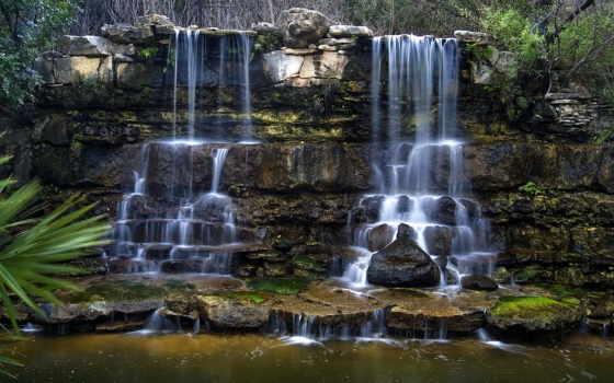 водопады, природа, zilker