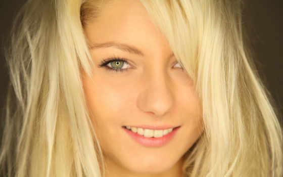 devushka, blondinka, лицо