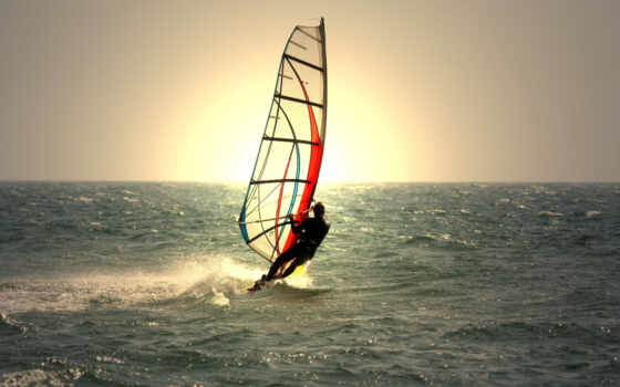 виндсерфинг, море, спорта