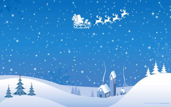winter, рисунки, добавлено, обоях, лет, lodge, назад, sledge, снежинки,