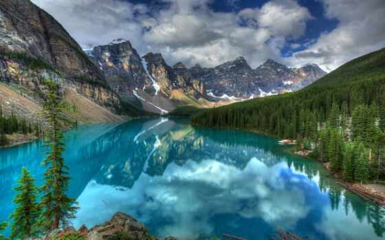 озеро, moraine, banff, national, park, канада, ten, долина,