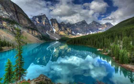 озеро, moraine, banff, national, park, канада, ten, долина,