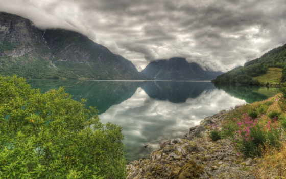 norwegian, природа, hdr, озеро, desktop, free,