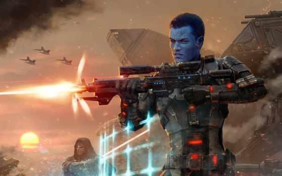 wars, star, республика, chiss, звездные, войны, игры, blue, мужчина, оружие,