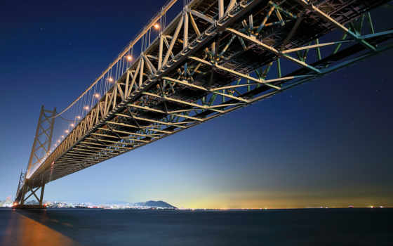 акаши, мост, kaikyo, япония, кайкё, kaikyō, architecture,