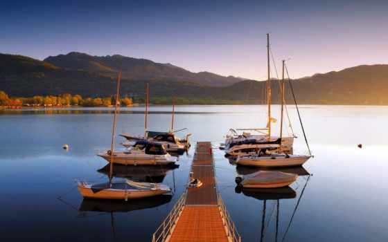 яхты, причал, горы, fone, гор, страница, причаленные, яхт, большое, polinapolina,