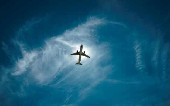 airplane, самолёт, полет, небо, oblaka, самолеты, clouds, закат,