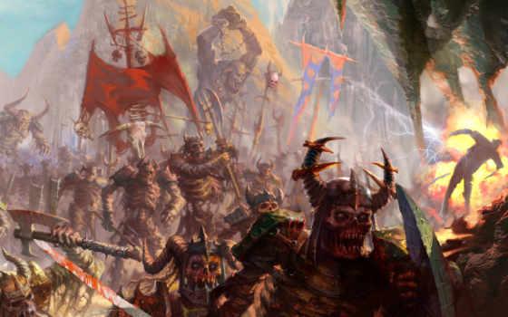 скелеты, армия, зомби, орки, tmy, топоры, фэнтази, chaos, искусства, работать, armour,