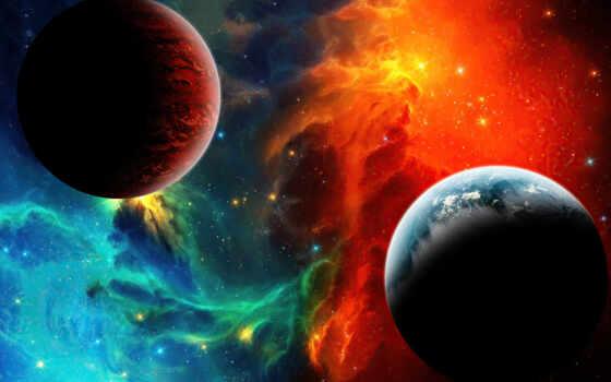 космос, nebula, risunok, devushka, галактика, быть, молния, fon, они, game