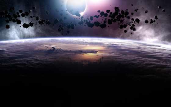 планета, астероиды Фон № 24843 разрешение 1920x1200