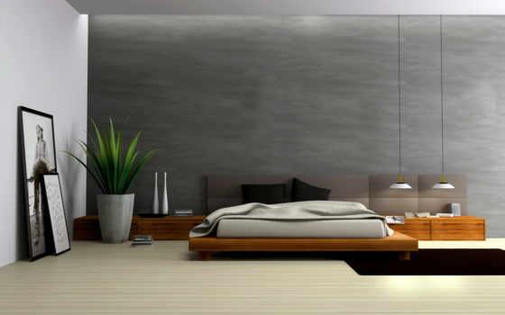 спальни, мебель, картины, галереи, потолки, стена,