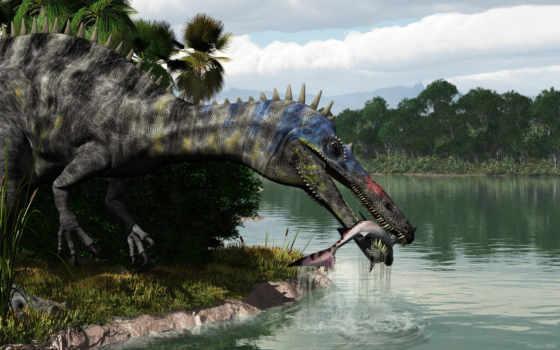 suchomimus, jurassic, park, рыбалка, deviantart, art, tenerensis, zhivotnye, строитель, steinar, velikost,