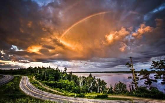 небо, разных, taiga, оранжевый, skies, красивые, love, разрешениях, оранжевое, природа, глазами,