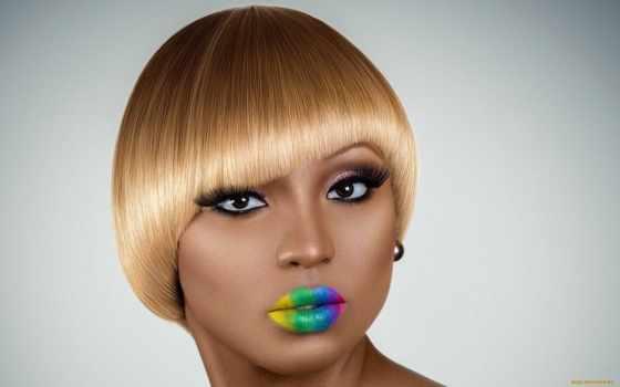 макияж, количество, девушка, cosmetics, глаза, red, радуга,
