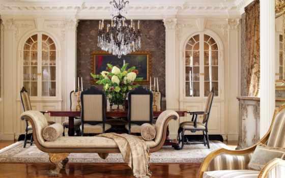 стиле, классическом, гостиной