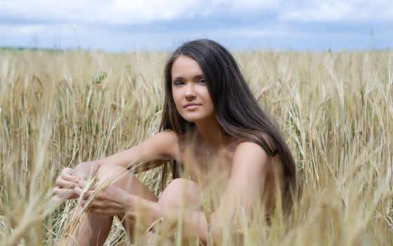 поле, девушка, devushki