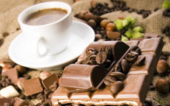coffee, завтрак, красивые, chocolate, калорийный, сладкое,