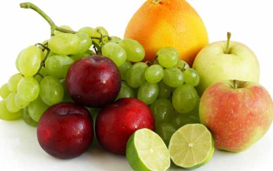 фрукты, ягоды, виноград, яблоки, оранжевый, сливы, производить, лайм, фруктов,