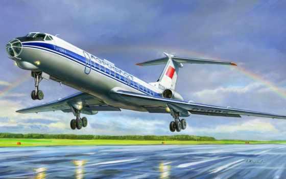 ту, самолет, пассажирский, рисунок, жирнов,