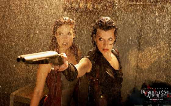 мила йовович в resident evil afterlife 3D